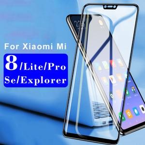 Image 3 - ป้องกันสำหรับXiaomi Mi 8 Se Pro Lite ExplorerกระจกนิรภัยกรณีKsiomi Xiaomi Xiami Mi8 Lite protector Light