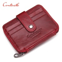 CONTACT SNew Thin Genuine Leather Men Women Wallet Small Casual Wallet Purse Card Holder Coin Mini