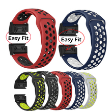 22mm Watchband for Garmin Fenix 5/5 Plus Watch Quick Release Silicone Belt For Garmin Forerunner 935/945/45/45S Easyfit Wrist
