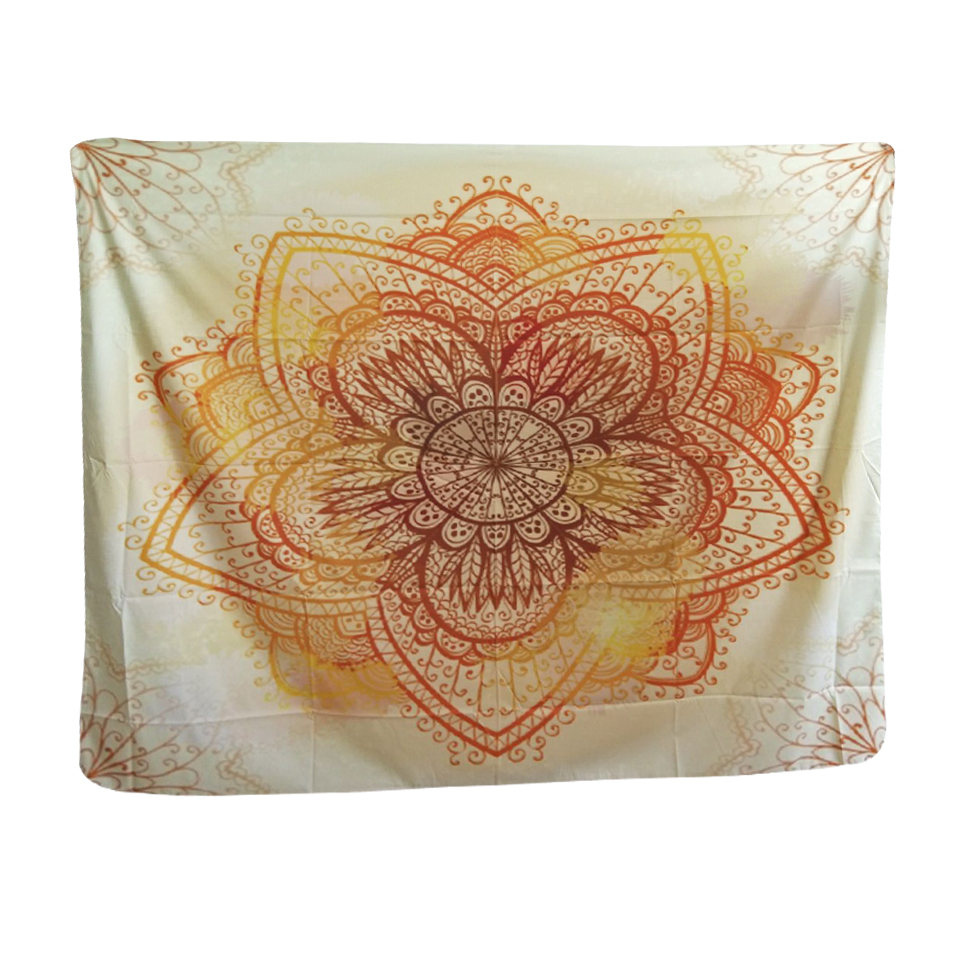 Decorative Wall Hanging Tapestry : Papa mima indian totem orange tapestry wall hanging