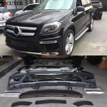 X166 GL500 GL63 style body kit PP front bumper rear diffuser exhaust Tail throat for Mercedes Benz AMG 13-16