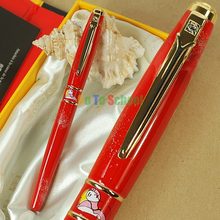 PICASSO 966 RED FOUNTAIN PEN HOODED FINE NIB SHIMMERING SANDS WITH ORIGINAL BOX