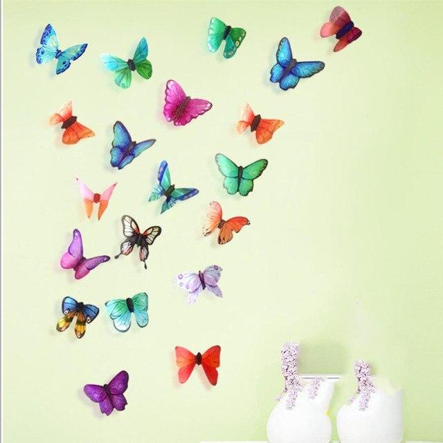 3D DIY wall stickers muraux pour enfants chambres papillon PVC Art ...