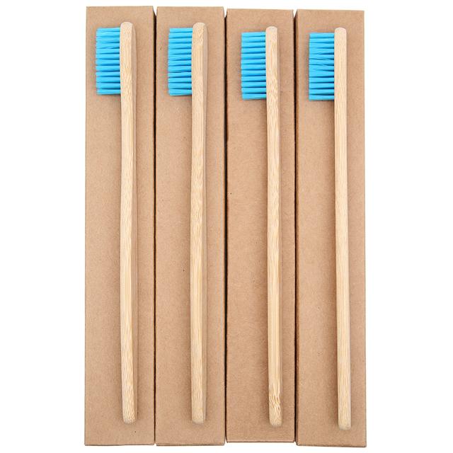 Blue Bamboo Toothbrush 8 Pcs Set