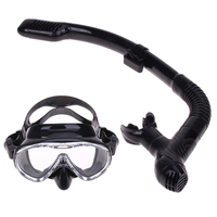 Top spearfishing gears extreme low volume silicon diving mask flexible folded dive snorkel for adult spearfishing and freediving