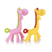High Quality Safety Banana Baby Teether Teething Toothbrush Stick Chews Teething Rings Hygiene Baby Toys Dental