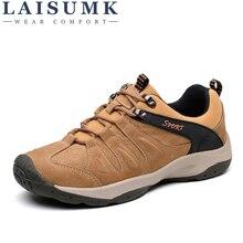 2019 LAISUMK Spring Autumn Quality Genuine Leather Casual Sneakers Men Shoes Male Walking Brand Comfortable Non Slip Footwear недорго, оригинальная цена