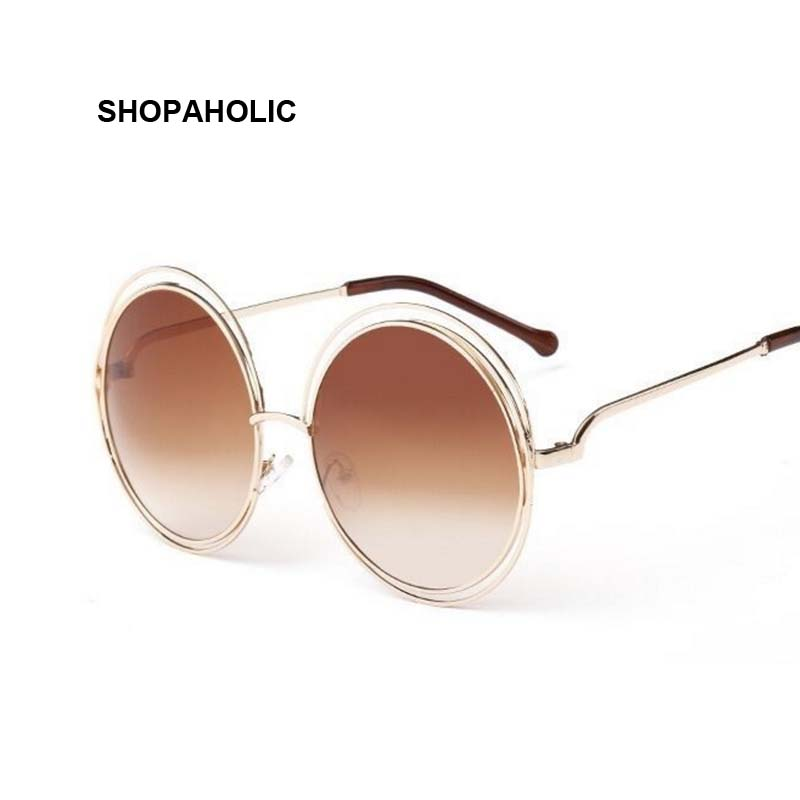 e5cfafb9ac34d Vintage Round Sunglasses Women Brand Designer Fashion Sun Glasses for Women  Luxury Ladies Sunglasses Shades Oculos De Sol