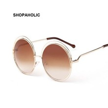 Vintage Round Sunglasses Women Brand Designer Fashion Sun Glasses for Women Luxury Ladies Sunglasses Shades Oculos De Sol