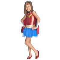 Deluxe Child Wonder Woman Tutu Dress Outfit Toddler Girls DC Superhero Fancy Dress With Cloak Halloween