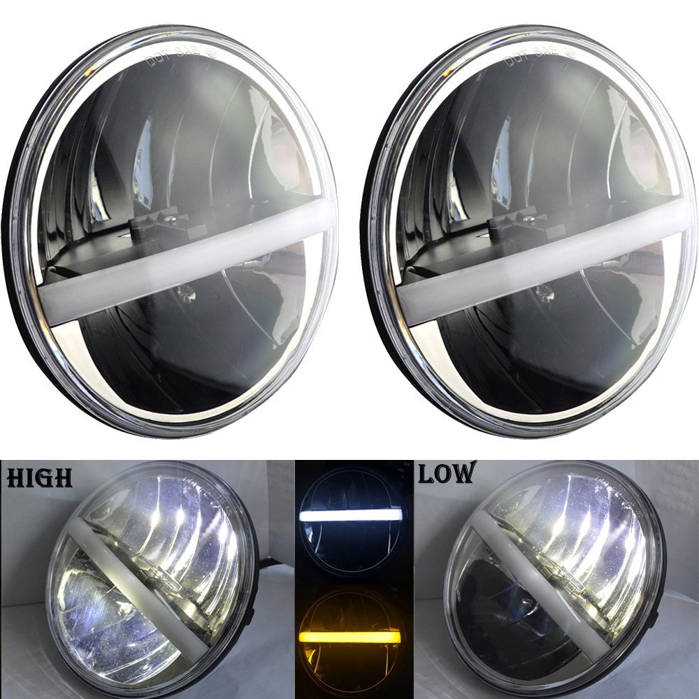 2pcs 7inch For Jeep Wrangler LED Headlamp Conversion Truck 7 Headlamp For Land Rover Defender 90
