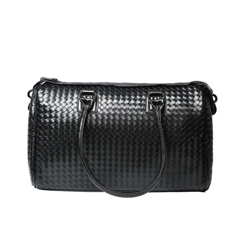 Hand Weave Travel Bag High Quality Bag Luggage Fashion Trends Leather Men Bags Multifunction Shoulder Duffle
