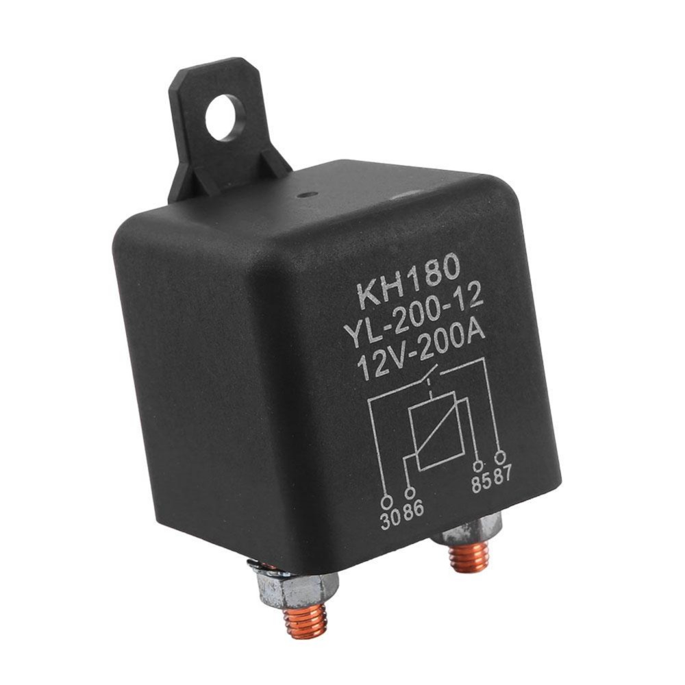 High Power Car Relay 12v Dc 200a Truck Motor Automotive Switch Relays Distribution 5 Pin 24v Dc12v 4 Best Quality Boat Current Continuous Type