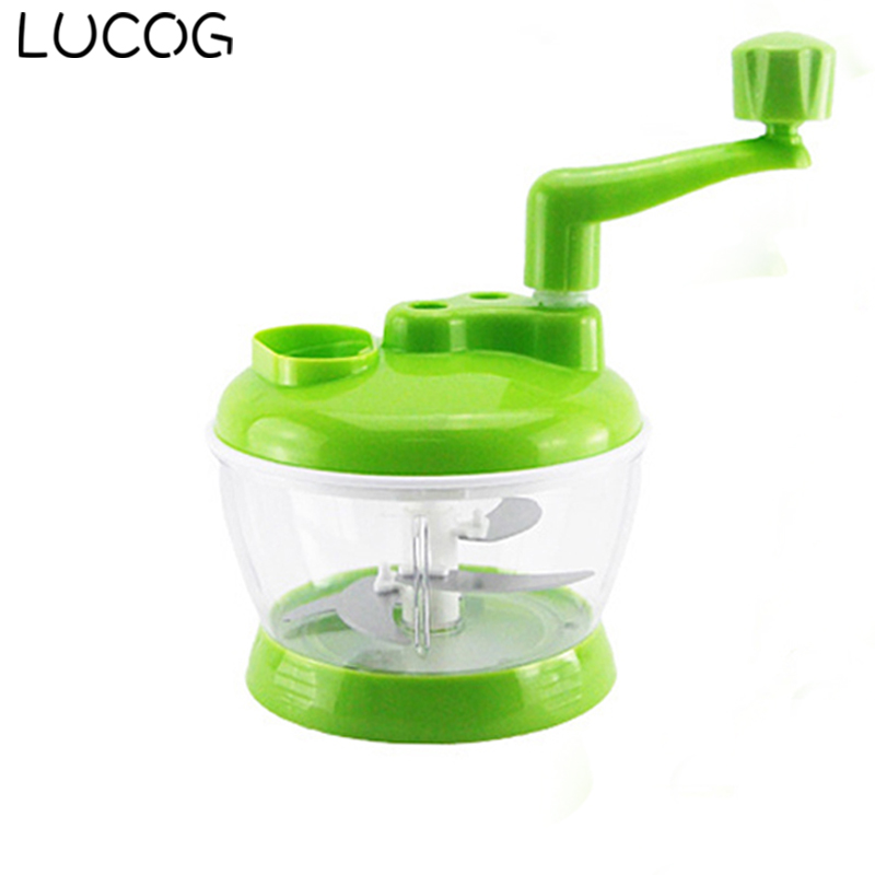 LUCOG Household Kitchen Manual Meat Grinders Mincer Fruit Vegetable Meat Mincing Food Processor Powerful Cutting Machine cheappest small household meat mincing machine wholesale