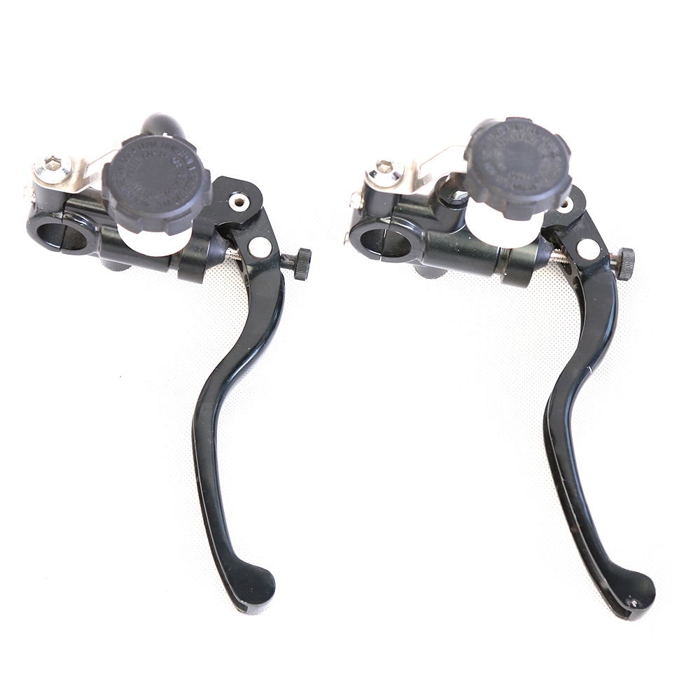 Universal 7/8 22MM Motorcycle Hydraulic Brake Clutch Lever Master Cylinder Reservoir Set For 125-600CC Accessories universal front clutch brake master cylinder reservoir handle bar lever aluminum one pair 7 8 22mm orange