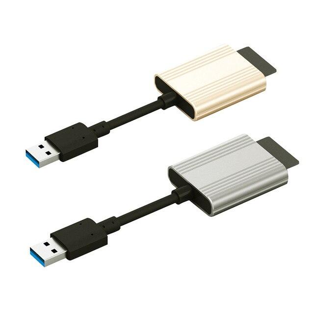 Горячие продажи Алюминиевого сплава USB 3.0 SD Кард-Ридер Для Micro SD/Micro DHC/Micro SDXC easy for carry очень приятно