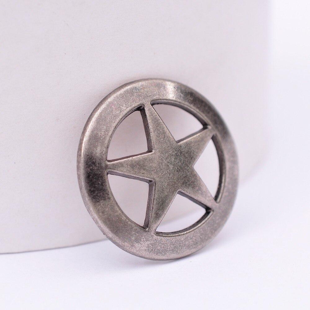Western Star Saddle Belt Clothes Decoration Accessories Screw Back