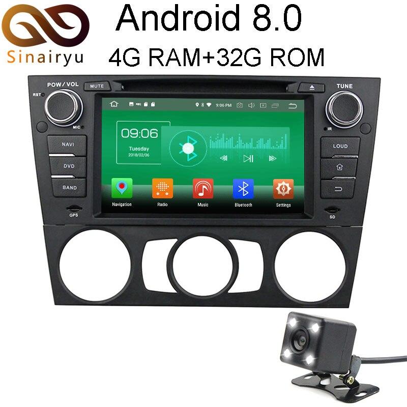 4 г Оперативная память Android 8.0 автомобильный DVD для BMW E90 салон E91 Touring E92 купе E93 Кабриолет Восьмиядерный Радио GPS плеер головное устройство