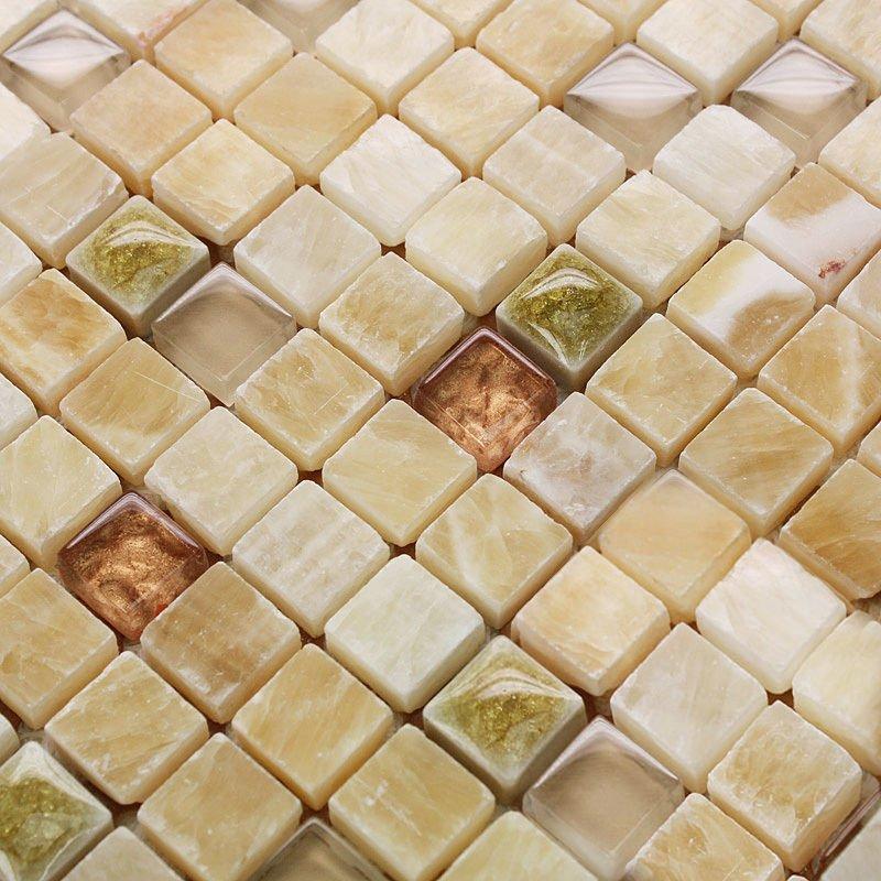 Marble Tile Sheets Square Ceramic Ice Crack Pattern