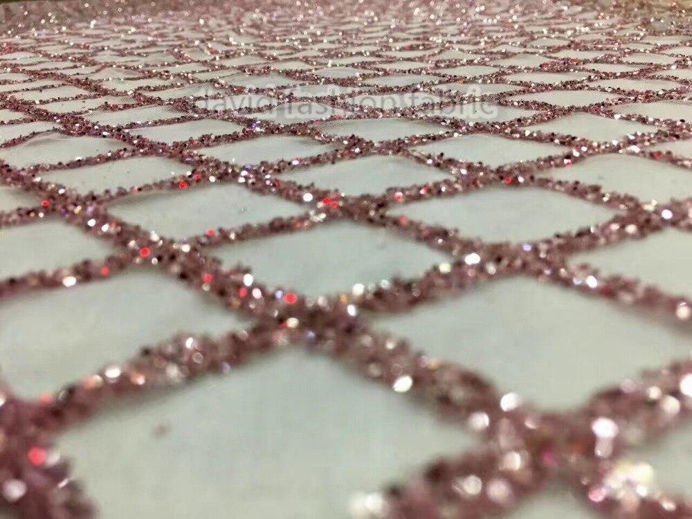 Ev ve Bahçe'ten Dantel'de 5 metre yapıştırılmış glitter Afrika Tül Dantel Kumaş sıcak satış David 41547 Afrika Fransız Dantel Kumaş için parti'da  Grup 1