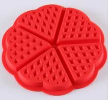 Silicone Mold Tool 1 X Heart-shaped Waffles Mold 5-Cavity Bundt Oven Muffins Baking Mould Cake Pan molde de silicone