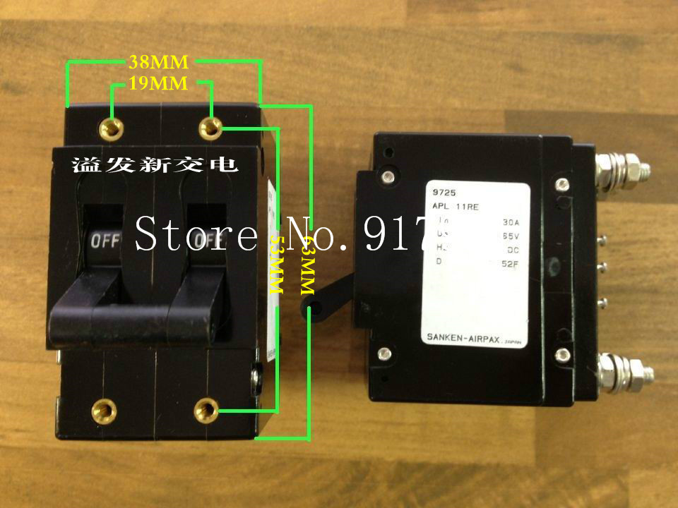 [ZOB] New American AIRPAX Ebers 11RE 2P30A 65V NO auxiliary equipment circuit breaker NC  --5pcs/lot
