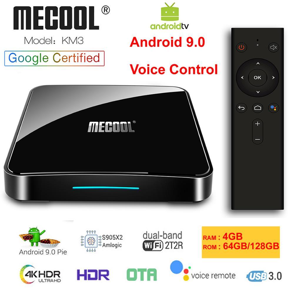 KM3 ATV Google Certified Android 9 0 Smart TV Box Voice Remote Amlogic S905X2 LPDDR4 4GB
