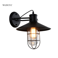 Indoor outdoor industrial led wall lights vintage lighting fixtures surface mounted classic led wall lamp Marble + metal black