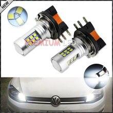 IJDM-bombillas LED de alta potencia, 6000K, 2835-SMD, H15, para Audi, BMW, Mercedes, Volkswagen, luces de circulación diurna, 12V