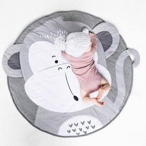 Child Play Mats kids animal Crawling Carpet Floor Rug Baby soft cotton sleeping Game rugs Children Room Decor Photo Props 90CM(China)