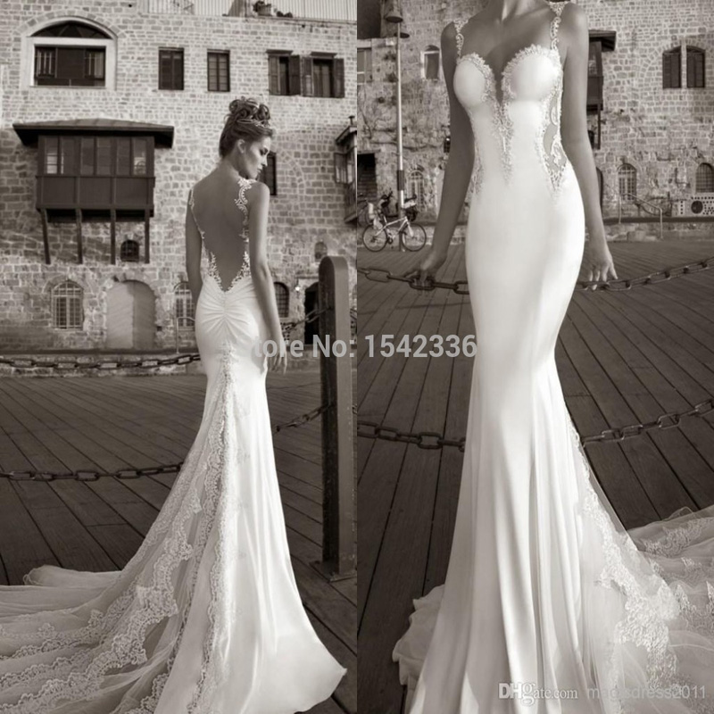 Best Selling 2016 Summer White Lace Bare Back Wedding Dress Beach ...
