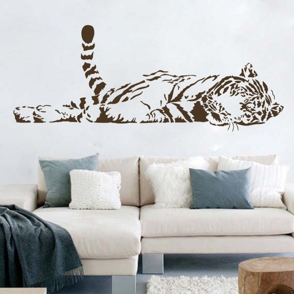 A004 Vinyl Wall Stickers Animal Cheetah Leopard Panther Removable Wall decal for Kids Nursery Living Rooms Home Decoration