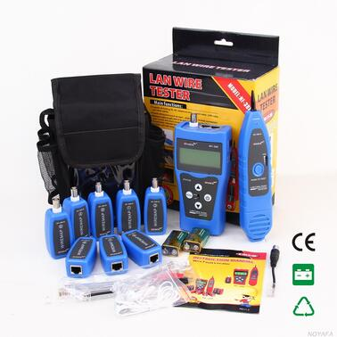 Free Shipping! NOYAFA NF-388 Blue LAN Network Cable Tester LAN RJ45 RJ11 USB Cable Tester Cable FOR 8 pc ports English version noyafa nf 388 english version multi functional network cable tester remote cable tracker rj45 rj11 lan tester lcd display