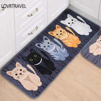 Tier Cute Cat Print Bad Küche Teppich Flur Willkommen Bodenmatte haus Fußmatten teppich Wohnzimmer Anti-Slip Tapete Teppich