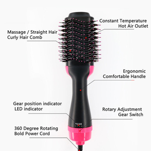 Image 5 - 2 in 1 Wind Hot Hair Comb Negative Ion Hair Comb Curler Straight Hair Dryer Multifunctional Shape Massage Comb Curling Iron