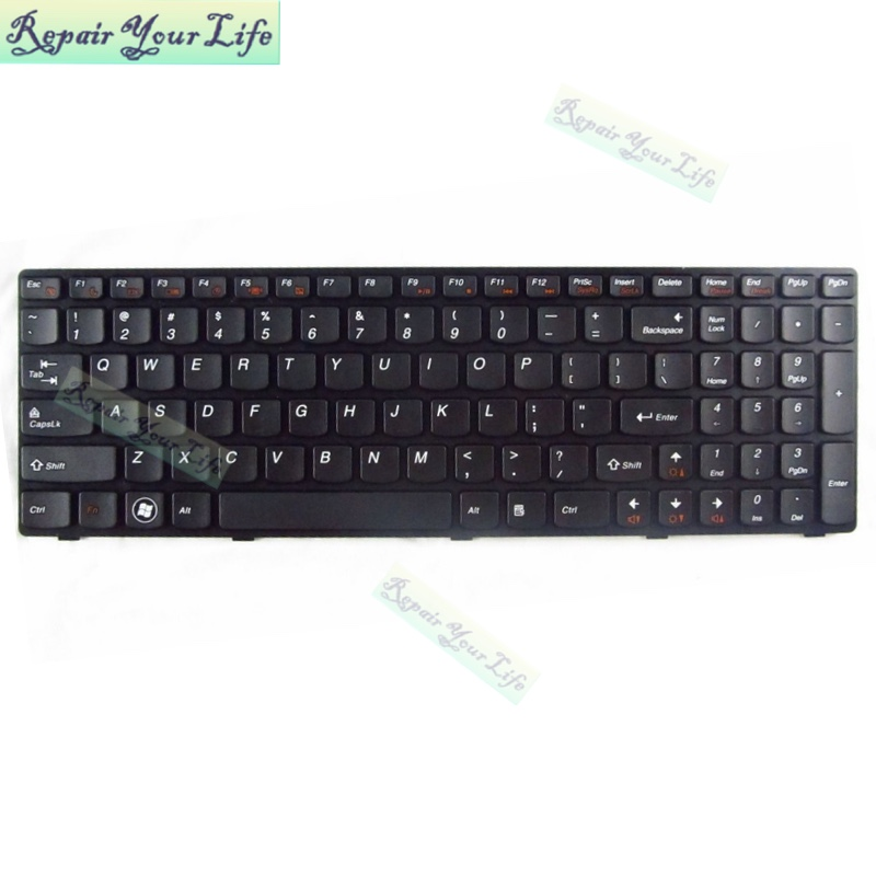Repair You Life G580 Z580 Laptop US Keyboard for <font><b>Lenovo</b></font> G585 <font><b>V580</b></font> A G585A 20150 English keyboard New and Original image