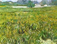 Impressionist art Wheat Field at Auvers with White House Vincent Van Gogh paintings home decor Handmade High quality