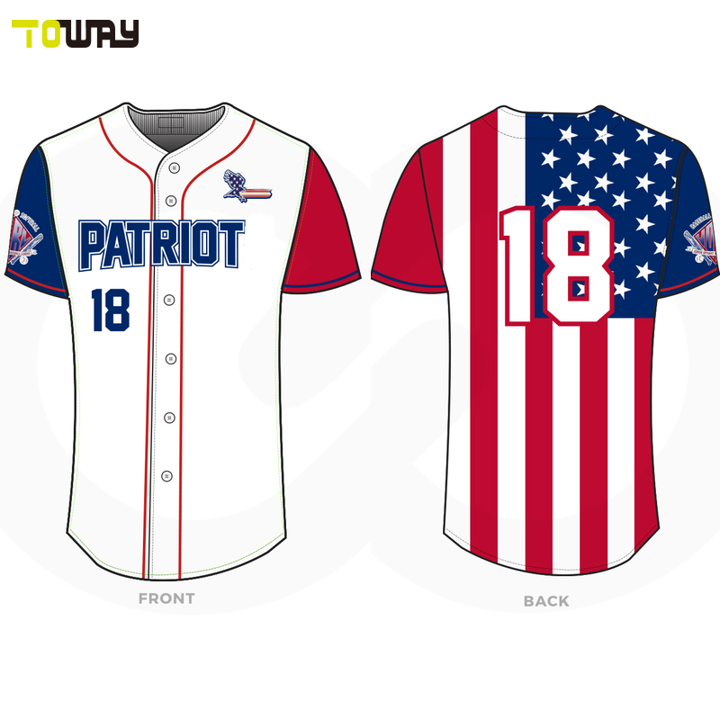 new concept 99f0f 81a8d Custom woman plain dri fit american flag baseball jersey-in ...