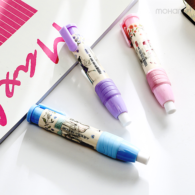 1 Pcs Funny Kawaii Cute Aihao Push Pencil Eraser Lipstick