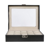 New 10 Grid Luxury Refinement Slots Watches Box Case Jewelry Collection Storage Organizer Display Boxes Caixa