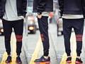 Moda Para Hombre de la Raya Roja Negro Hip Hop Danza Pantalones Deportivos 2016 Pantalones de Deporte de la Marca Hombre Sports Pant
