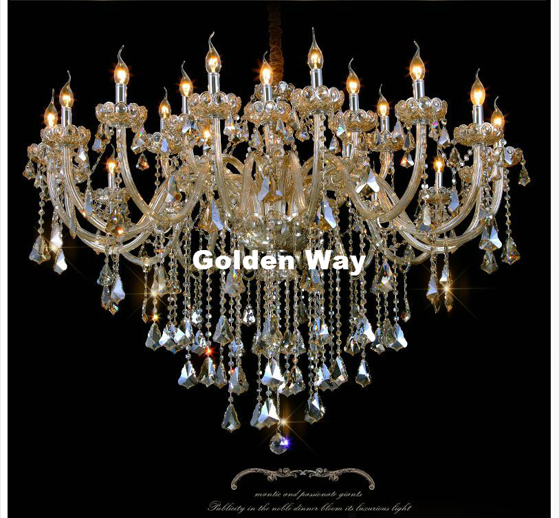 New Arrival Champagne Crystal Chandelier Lighting Luxury E14 Led K9 Gl Chandeliers Lamp Suspended Light Res De Cristal In From Lights