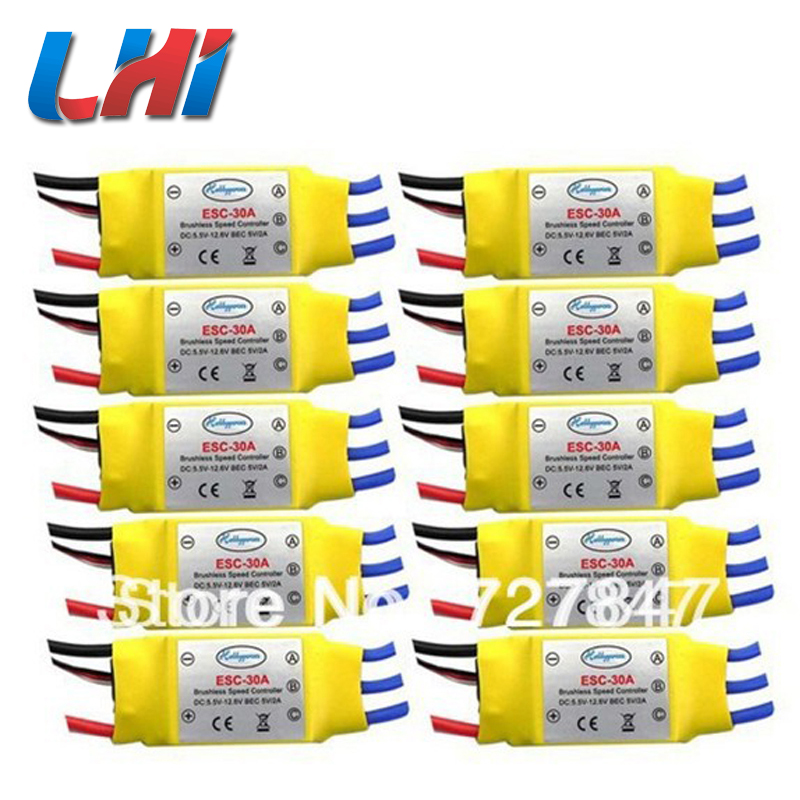 2017 Hot Sale New Motors Wheel Hub Hsp Brushless Servo 30a Brushless 450 Helicopter Multicopter Speed Controller Rc Esc 10pcs 1pcs original hotrc 30a brushless motor esc speed controller with jst plug for rc quadcopter rc helicopter multicopter