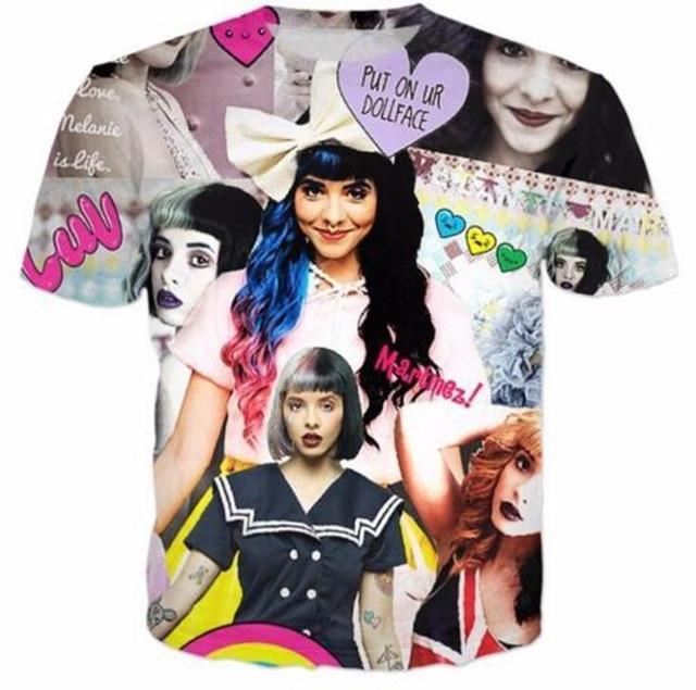 Hip Hop Women Mens t shirt Melanie Martinez Short Sleeves 3D Print T-Shirt Summer Casual Clothes Tops Tees Plus S-5XL