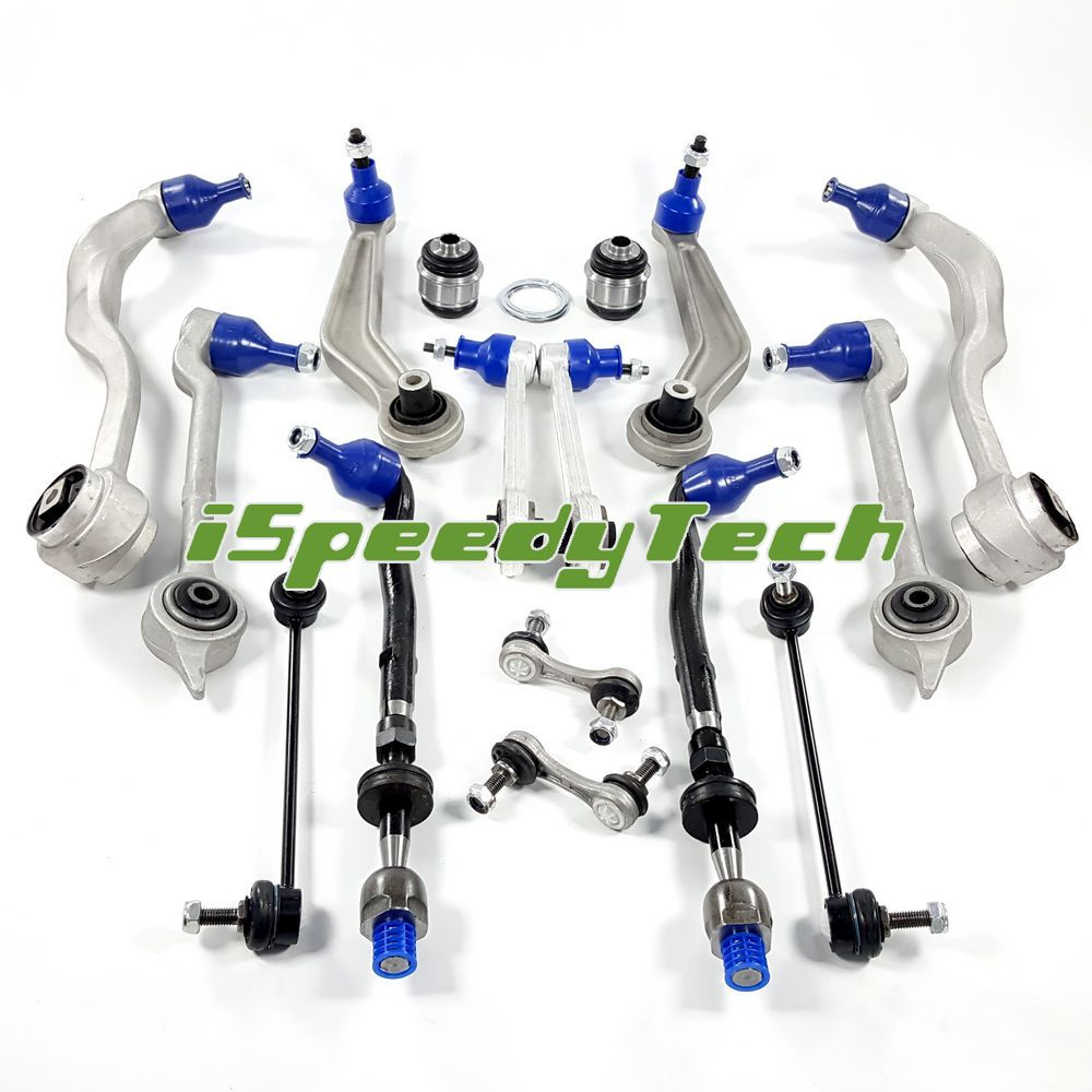 Front+Rear Control Arm Links Tie Rod Suspension Kit Fit BMW 525i//528i//530i E39