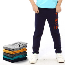 Kids Clothes 2019 new cotton Boys Pants Elastic  Spring autumn Waist movement 4-14 years Baby Boy
