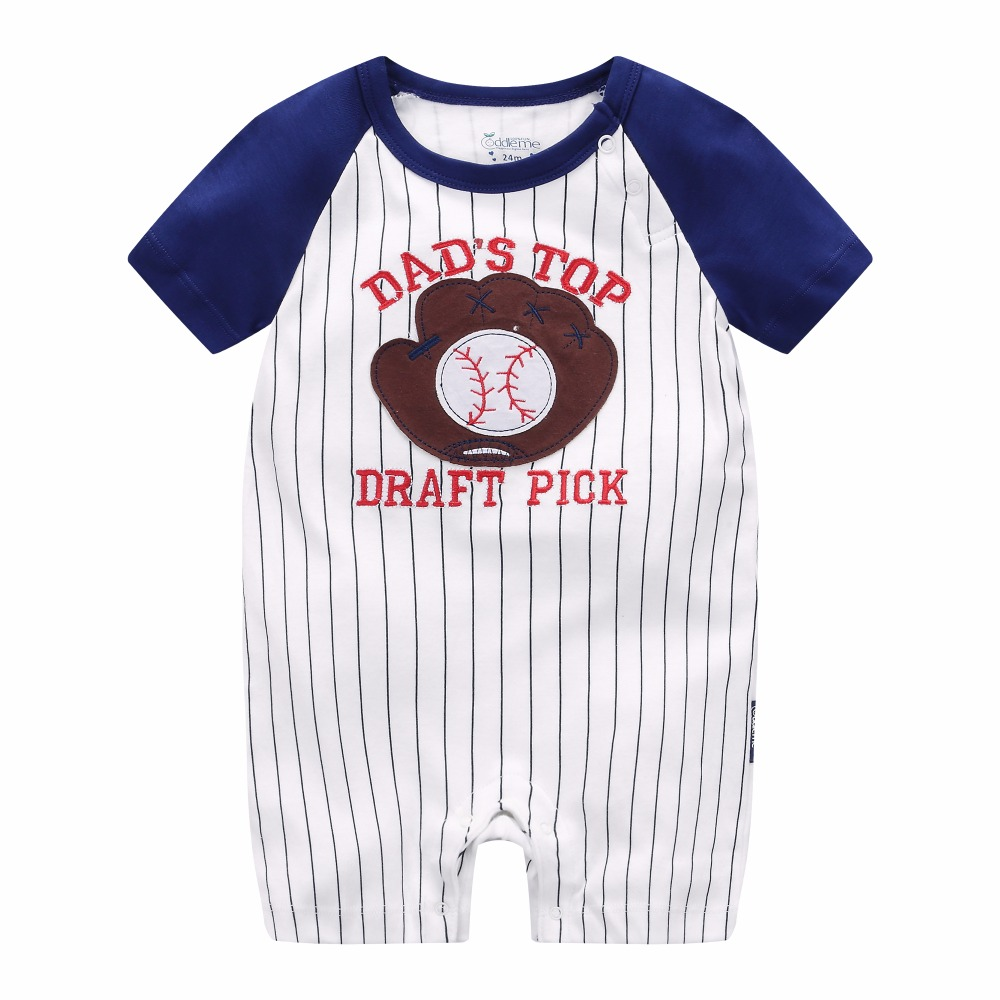 2018 summer Sports costume romper for baby boy clothes newborn -24M ...