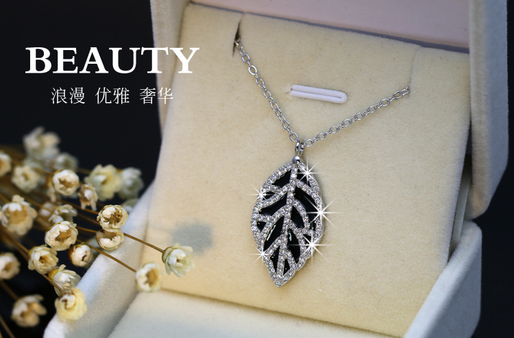 2020 Hot Summer Sale Fine Jewerly Crystal From Austrian 925 Silver Necklace Female Clavicle Chain Valentine's Day Gift