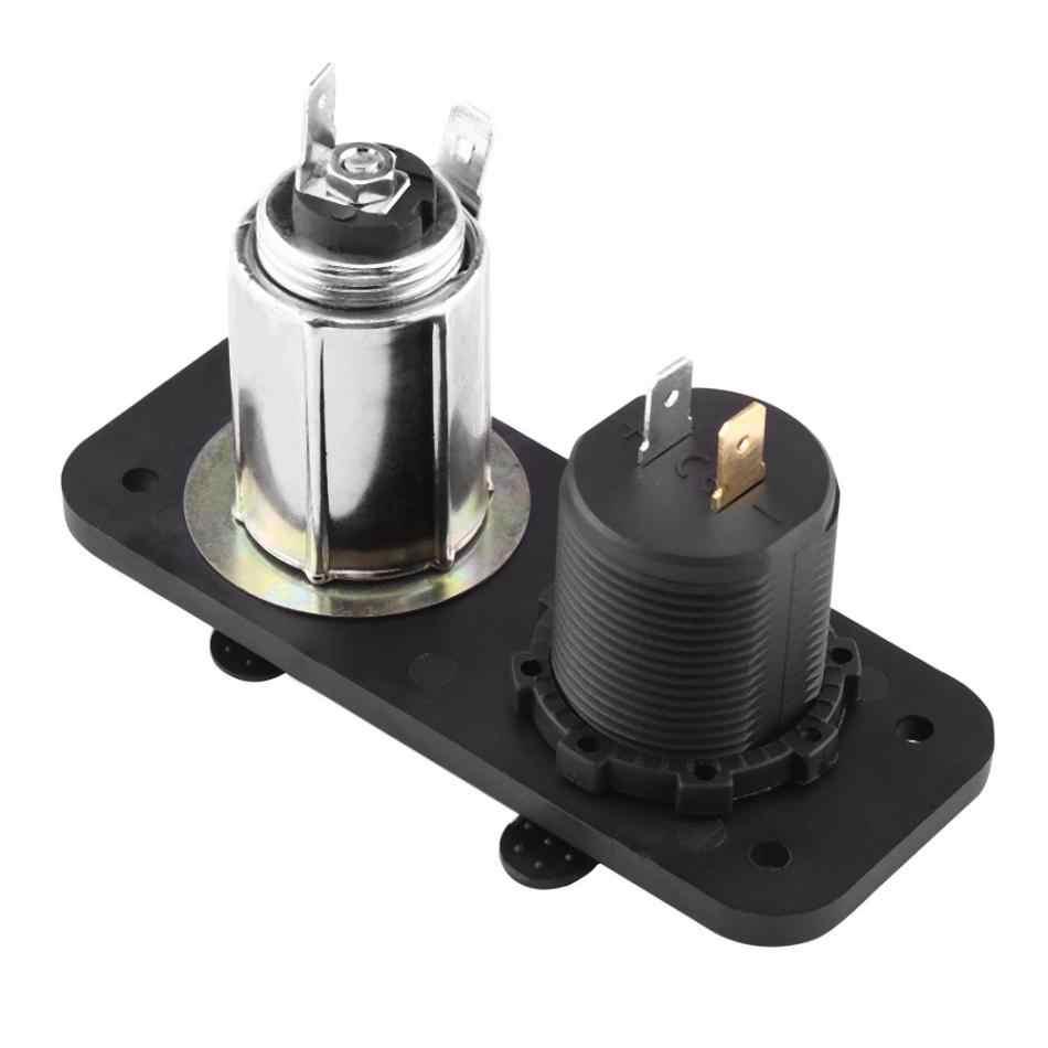 12V-24V Cigarette Lighter Dual USB Voltmeter LED Display For Car Boat Yacht RV Truck Car Styling