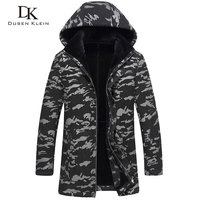Leather Jacket Men S Long Section Detachable Hat Sheep Leather Wool Liner Fashion Camouflage Youth Winter